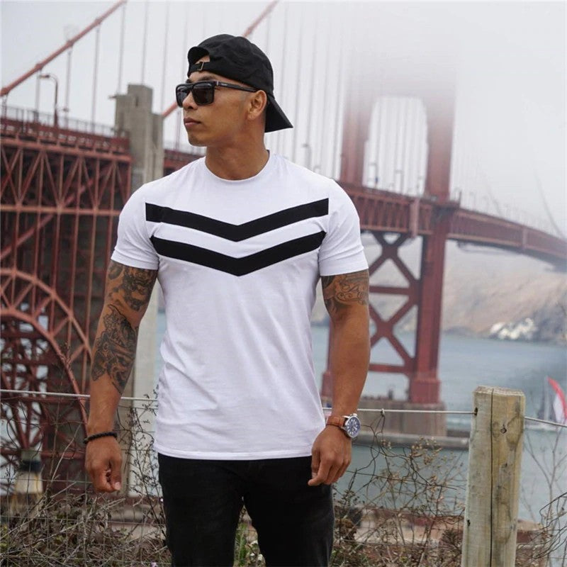 Men's Striped Short-Sleeve T-shirt
