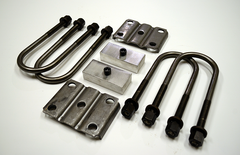 "Trailer Blocks 4000lb to 7000lb axle kit with tie plates and 1"" blocks for 1-3/4"" wide spring"