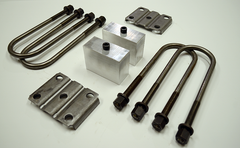 "Trailer Blocks 4000lb to 7000lb axle kit with tie plates and 3"" blocks for 1-3/4"" wide spring"