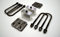"Trailer Blocks 3500lb axle kit with tie plates and 3"" blocks for 1-3/4"" wide spring"