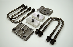 "Trailer Blocks 4000lb to 7000lb axle kit with tie plates and 1"" blocks for 2"" wide spring"