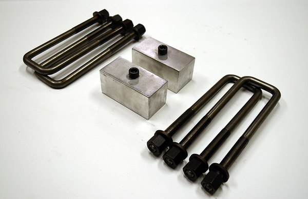 "Trailer Blocks 5200lb marine axle kit with 2"" blocks for 2"" wide spring"
