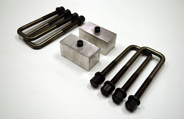 "Trailer Blocks 2500lb to 3500lb marine axle kit with 2"" blocks for 2"" wide spring"