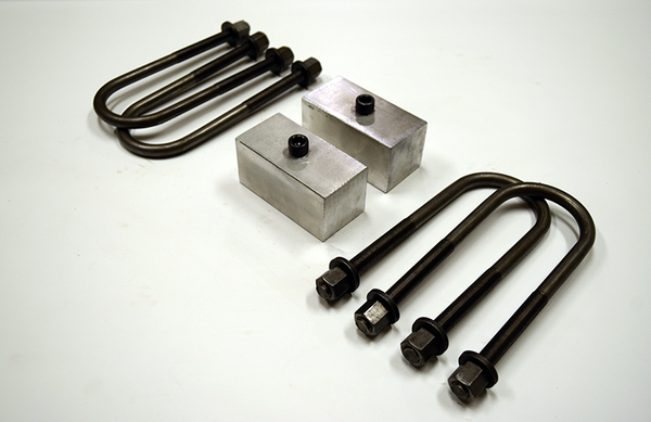 "Trailer Blocks 3500lb axle kit with 2"" blocks for 2"" wide spring"