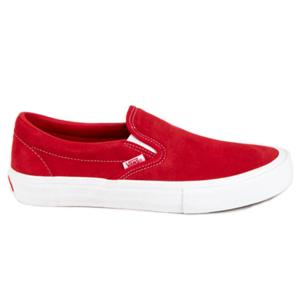 Vans Slip-On Pro - Red/White, Underground Skate Shop