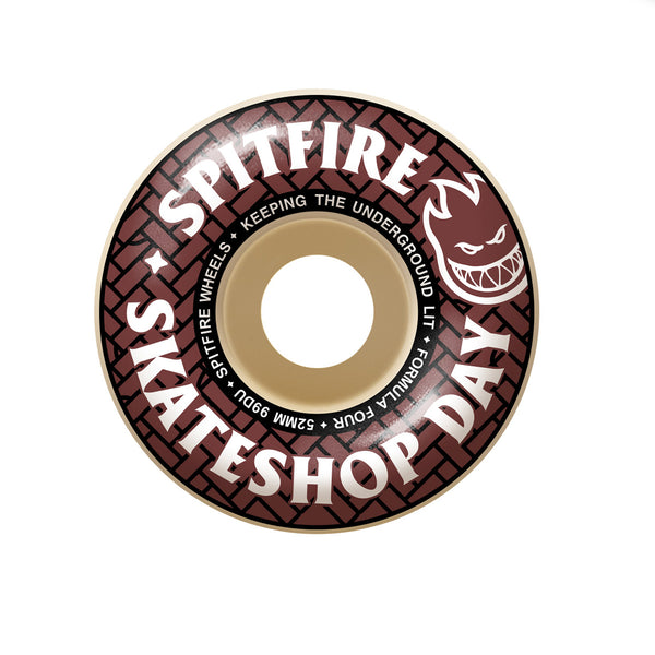 Spitfire Formula Four Skate Shop Day Classic Shape 99a - 52mm