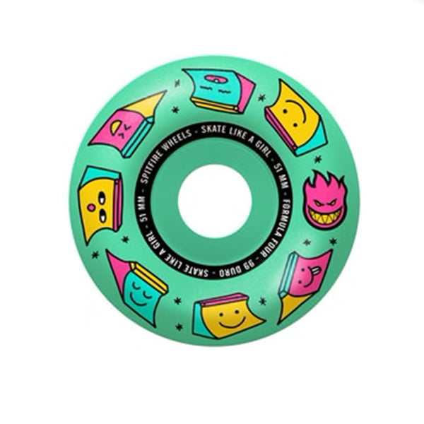 Spitfire Formula Four Radials Skate Like a Girl Wheels 99a | Underground Skate Shop