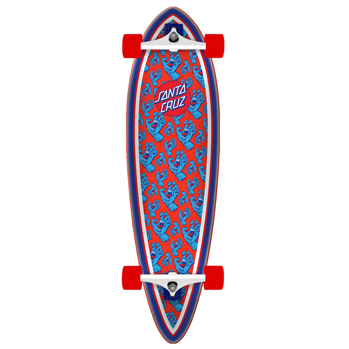 Santa Cruz Crusier - Hands Allover Pintail | Underground Skate Shop