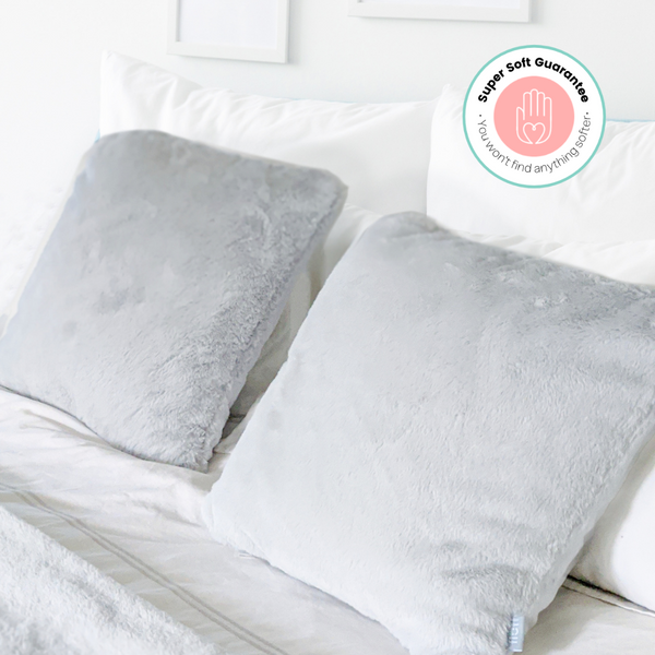 Faux fur grey cushion