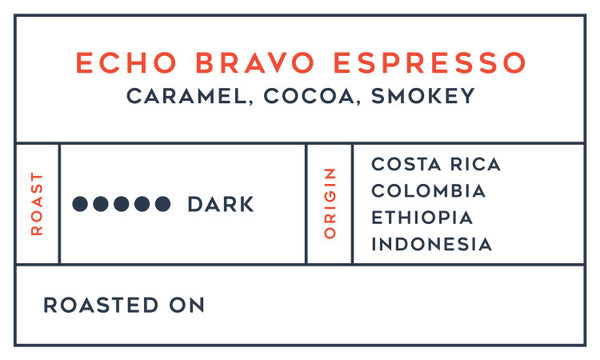 Echo Bravo Espresso 6-Month Subscription