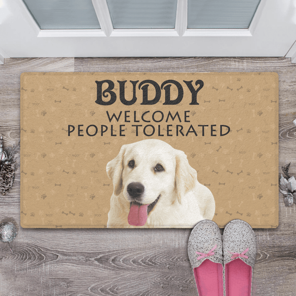 Custom Photo Doormat with Text Welcome Doormat