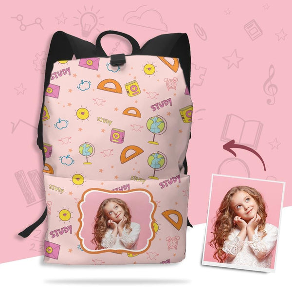 Custom Photo Schoolbag Full-frame Printed Backpack Gifts for Students