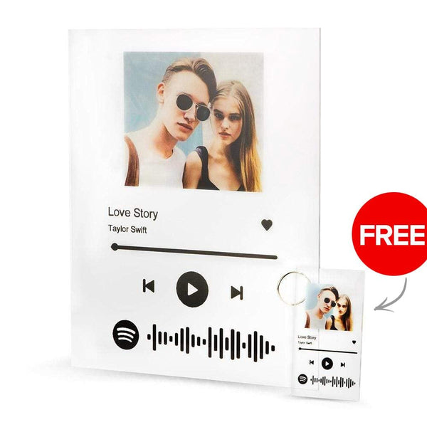 Spotify Song Plaques Acrylic Glass - Buy Plaque Get Free Keychain