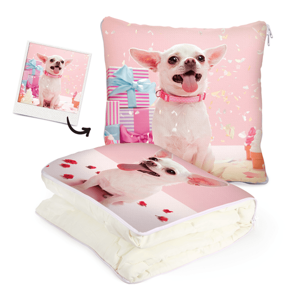 Pet Memorial Gifts Custom Quillow Blanket Double-sided Printing