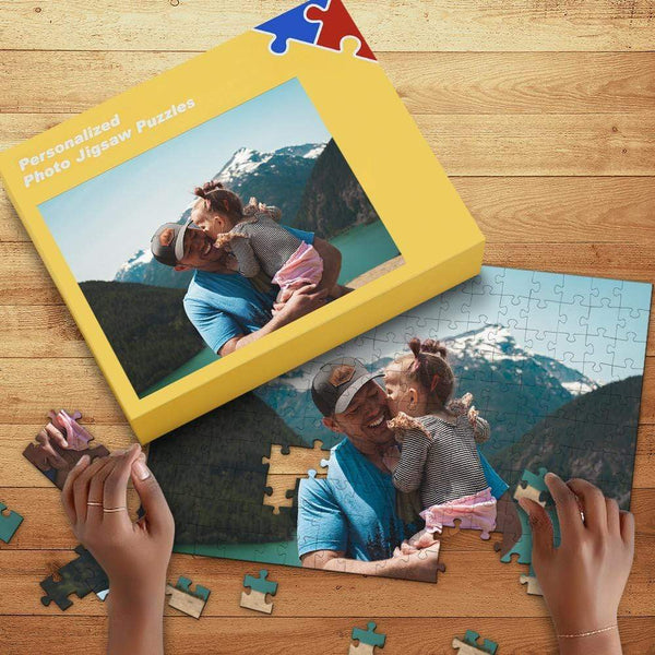 Custom Photo Jigsaw Puzzle 35-1000 Pieces Free Puzzle Box