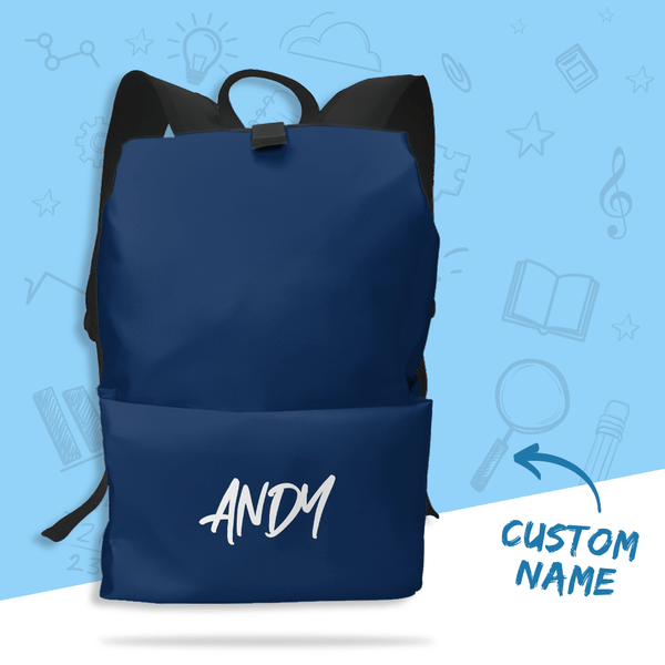 Customized Schoolbag Name Backpack Blue for Children