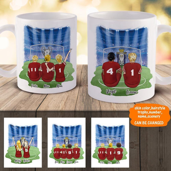 Liverpool Football Team Personalized Coffee Mug-Best Friends for Boys and Girls