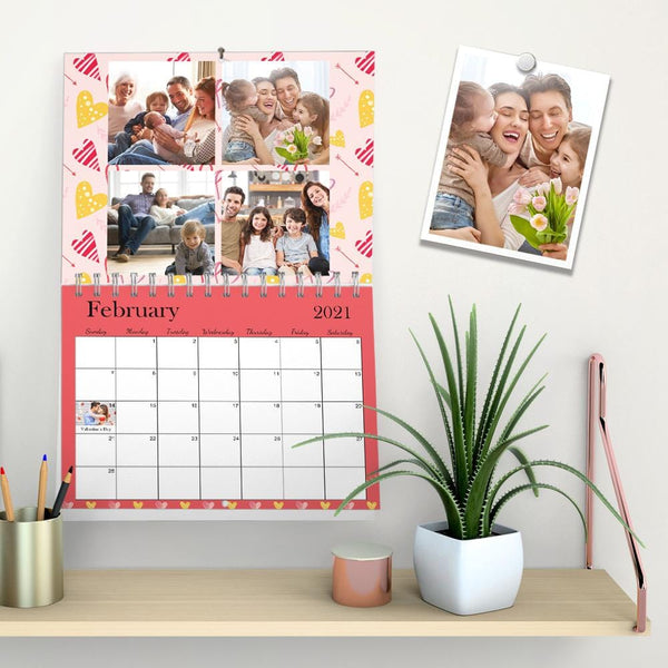 Custom Wall Calendar Photo Gallery Personalized Calendar for Family