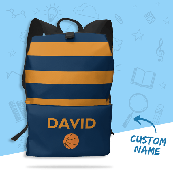 Custom Text Schoolbag Name Backpack for Children