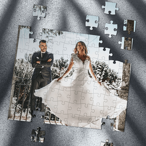 Custom Photo Jigsaw Puzzle Wedding Gift 35-1000 Piece Jigsaw