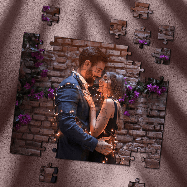 Custom Photo Jigsaw Puzzle Romantic Lover Gift 35-1000 Piece Jigsaw