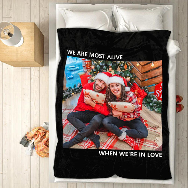 Christmas Gifts Personalized Blankets with Photo