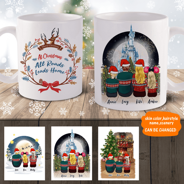 Christmas Gifts Family Personalized Coffee Mug Easy Design disney