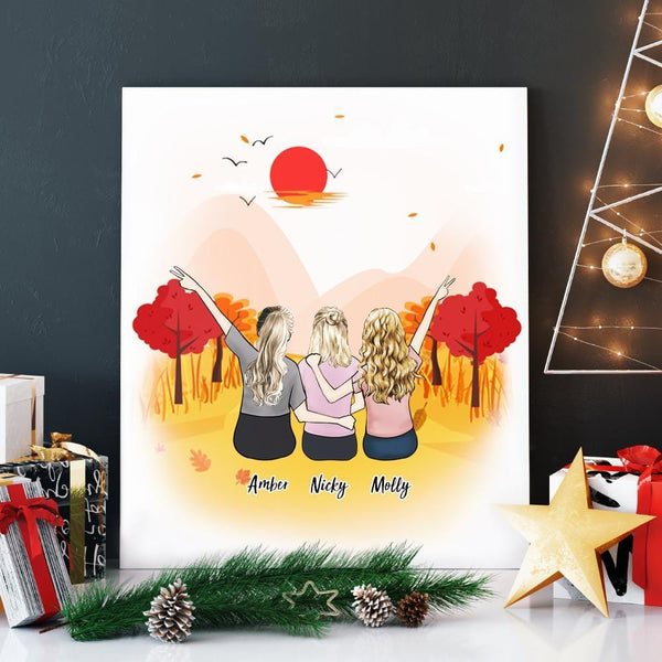 Custom Canvas Wall Art For Best Friend Gift 8x10 inch