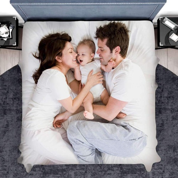 Personalized Bed Sheet Photo Bedding Housewarming Gift