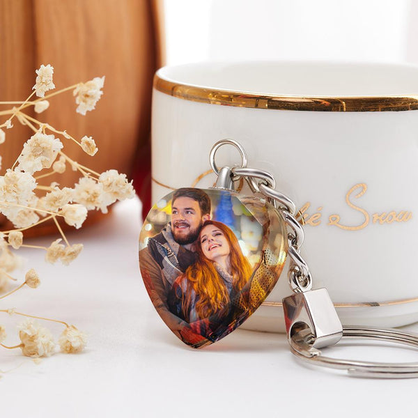 Crystal Anniversary Gifts Photo Keychain