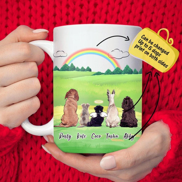MyPhotoMugs?Personalized Dog And Dog's Friends Coffee Mug - Meteor-like rainbow memories