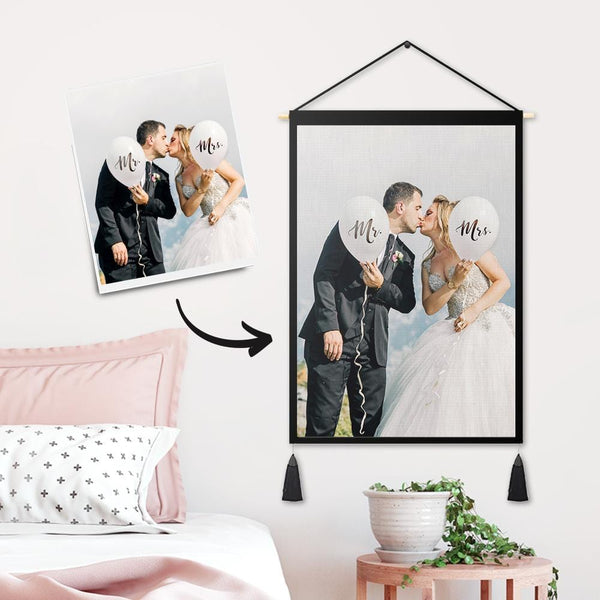 Custom Best Beloved Photo Tapestry - Wall Decor Hanging Fabric Painting Hanger Frame Poster