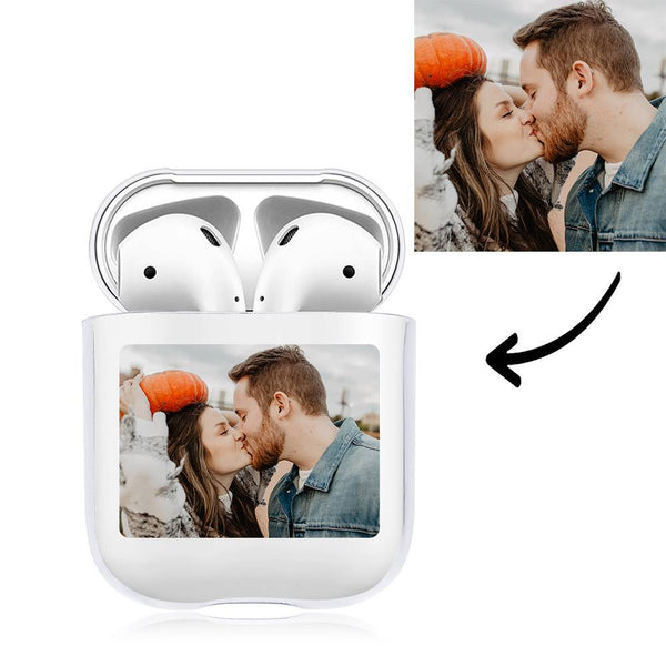 Photo Earphone Case for AirPods Couples Gift, Earphone Cover Protective Cover - Transparent