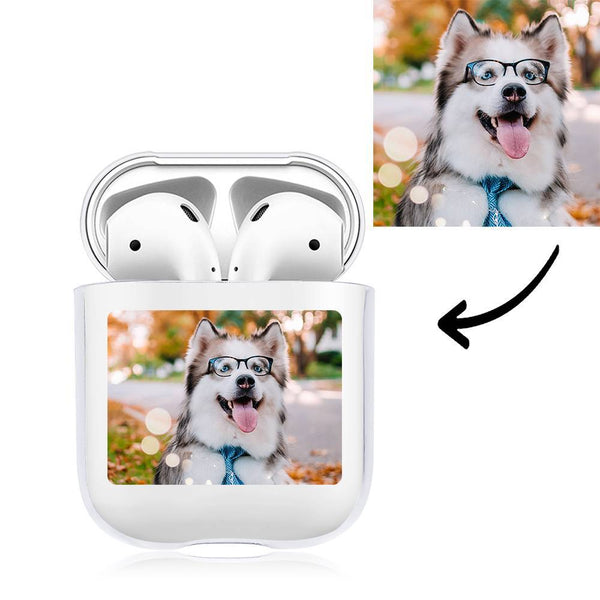 Custom Photo Earphone Case for AirPods Lovely Dog - Transparent