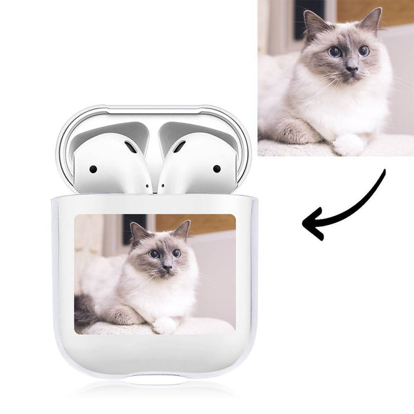 Custom Photo Earphone Case for AirPods Cat - Transparent