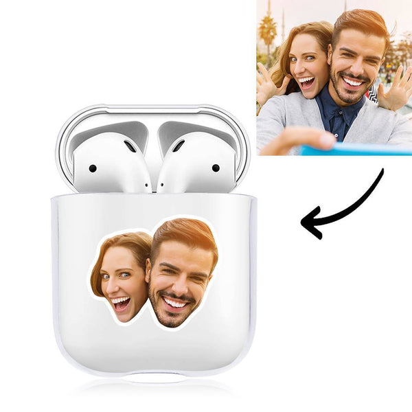 Custom Photo Earphone Case for AirPods Couple's Gift Transparent - Avatar