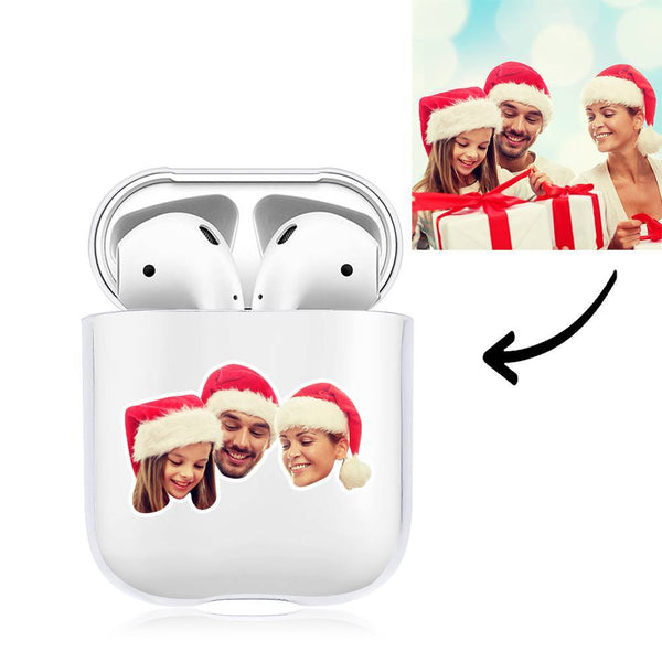 Custom Photo Earphone Case for AirPods Happy Family Transparent - Avatar