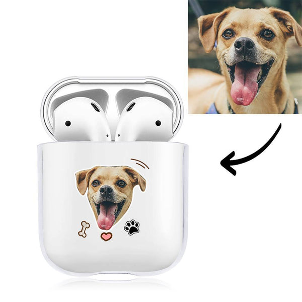 Custom Photo Earphone Case for AirPods Cute Dogs Transparent - Avatar