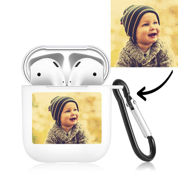Photo Earphone Case for AirPods Cute Baby - White
