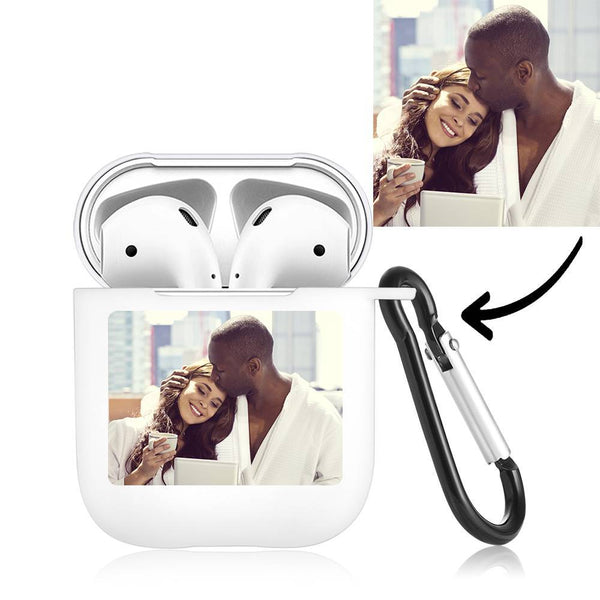 Photo Earphone Case for AirPods Couples Gift - White