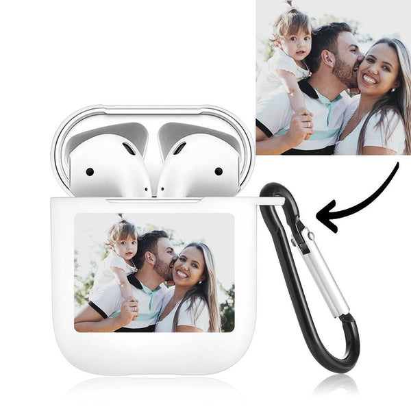 Photo Earphone Case for AirPods Family Gift - White