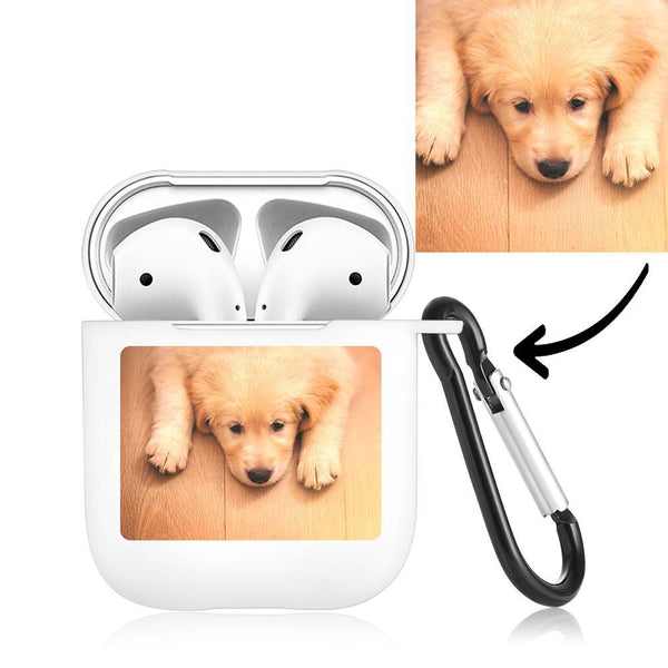 Custom Photo Earphone Case for AirPods Lovely Dog - White