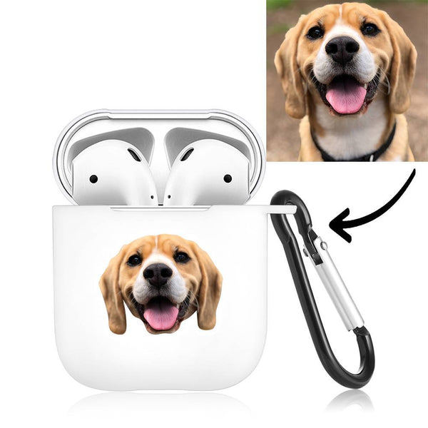 Custom Photo Earphone Case for AirPods Lovely Dog White, Earphone Cover Protective Cover - Avatar