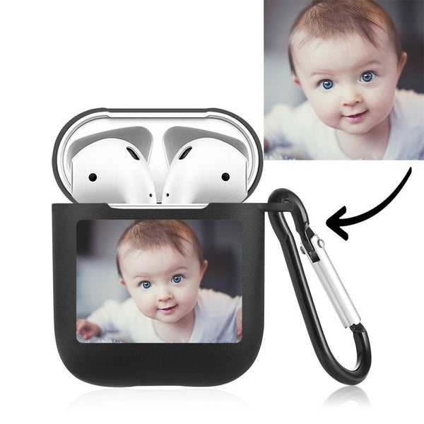 Photo Earphone Case for AirPods Cute Baby - Black