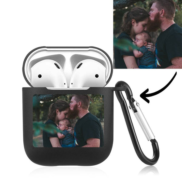Photo Earphone Case for AirPods Family Gift - Black