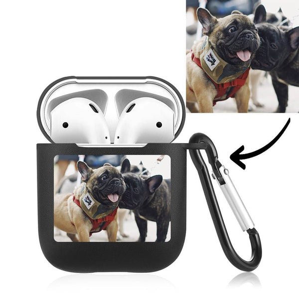 Custom Photo Earphone Case for AirPods Lovely Dog, Earphone Cover Protective Cover - Black