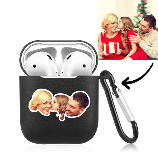 Custom Photo Earphone Case for AirPods Happy Family Black - Avatar