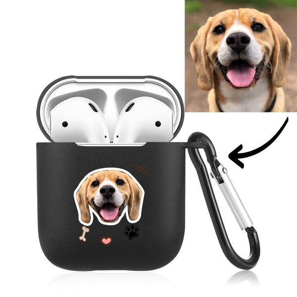 Custom Photo Earphone Case for AirPods Cute Dogs Black - Avatar