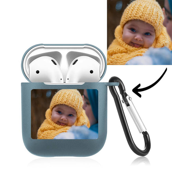 Custom Photo Airpods Case Earphone Case Blue