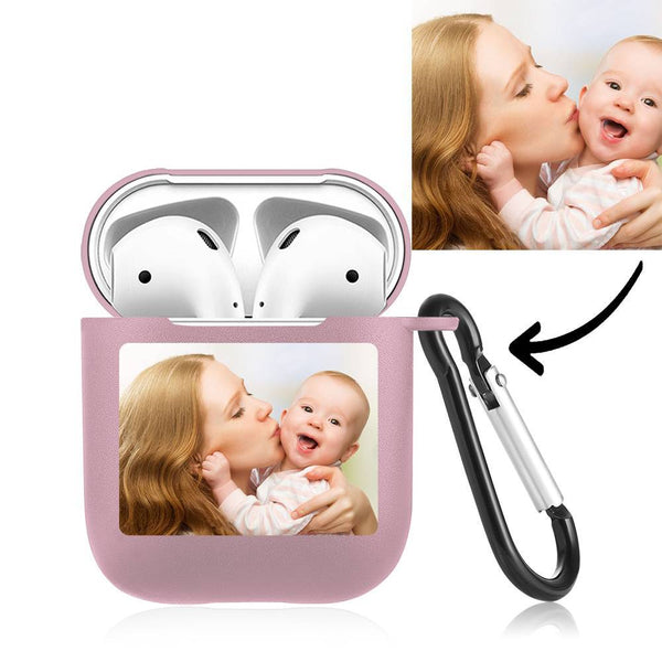 Custom Photo Airpods Case Earphone Case Pink
